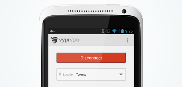 VyprVPN for Android showing Toronto server