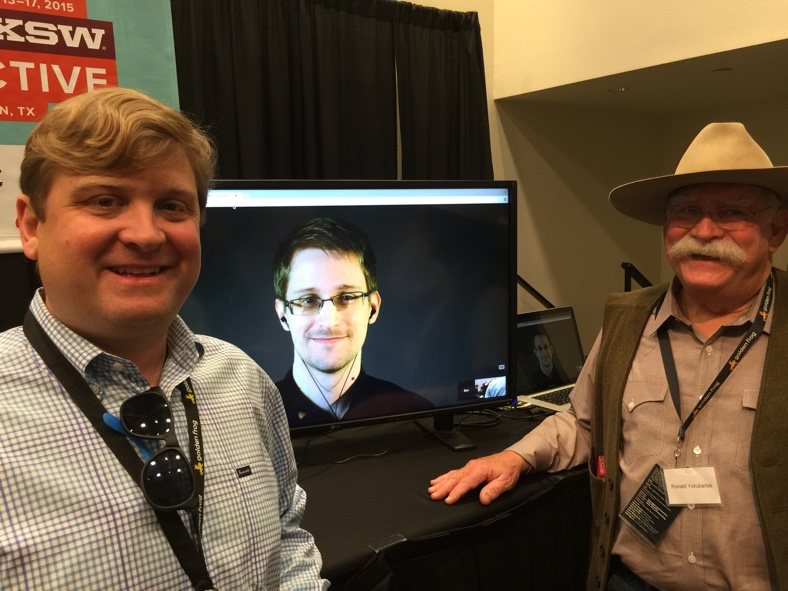 Golden Frog with Edward Snowden