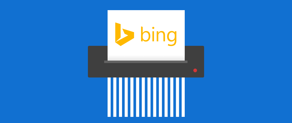 Improve your online privacy by regularly deleting your Bing search history.