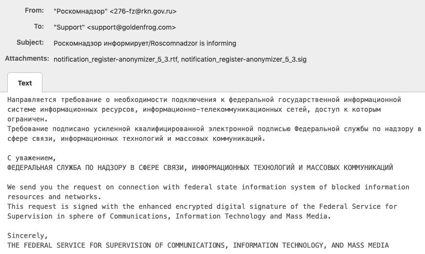 Russia Demands VPN Providers to Comply with Censorship